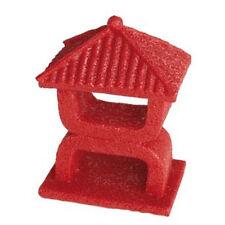Superfish Zen Deco Mini templo Acuario Peces Tanque Ornamento Decoración Rojo 10cm