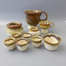H.G. Heinloth Ingolstadt Keramik Konvolut 10 Teile ua Krug Eierbecher Schale (N)