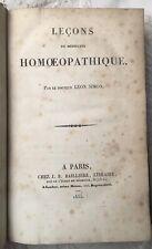 EO HOMÉOPATHIE 1835 Dr Léon SIMON : LEÇONS DE MÉDECINE HOMOEOPATHIQUE