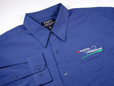 FUJI FILM Professional Photographer  - Men's S Embroidered Dress Shirt  - BLUE