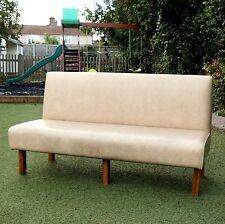 Large Cream Sofa Three Four Seater Couch Lobby Settee Waiting Area Room Takeaway
