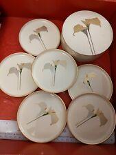 Vintage OTAGIRI of Japan Lacquerware Set of 6 Coasters w Storage Case