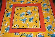 Ropa de cama Bedding bedlinen vintage la los pitufos Smurfs 80s 90s
