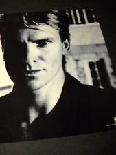 STING 1985 Blue Toned PROMO POSTER AD in mint cond.