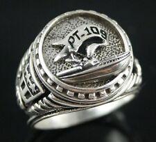 John F Kennedy PT109 Motor tropedo Boat ring sterling silver