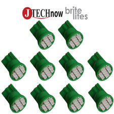 10x T10 8-SMD Green LED Interior, Instrument, License Light W5W 194 168 2825 158