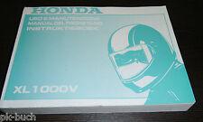 Uso E Manutenzione Manual Del Propietario Instruktieboek Honda XL 1000 V 1998!!