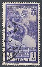 1938 AFRICA ORIENTALE ITALIANA USATO AUGUSTO POSTA AEREA 1 LIRA - RR12665