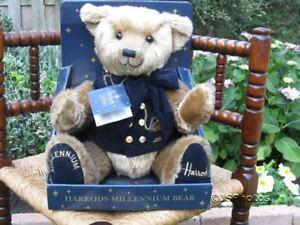 Harrods UK Millennium Teddy Bear Plush 13 inch Brand NEW in Box 2000