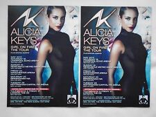 "ALICIA KEYS Live in Concert ""Girl on Fire"" 2013 UK Tour. Promo tour flyers x 2"
