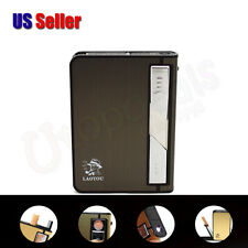 Multifunctional Cigarettes Case Electronic Flameless Windproof Built-in Lighter