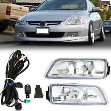 Pair Fog Lights Front Bumper Lamp + Wiring Switch Kit for Honda Accord 2003-2007