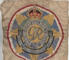 Long Stitch Woollen Embroidery RASC Royal Army Service Corps G6 Badge c1950