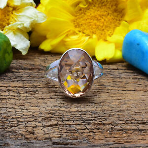 Picturesque Morganite Gemstone 925 Sterling Silver Handmade Ring All Size