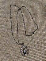 Vintage Estate Sterling Silver 925 Praying Hands Pendant Necklace