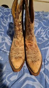 justin brown leather boots  8 1/2D