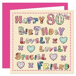 My Special Friend Happy Birthday Card - Age Range 30 - 100 Years - Lovely You