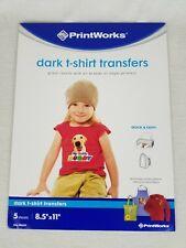 "Printworks Dark T-Shirt Transfers 5 Sheets 8.5"" X 11"""