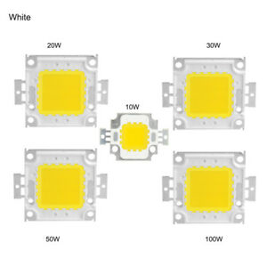 Led chip de (10 W 12V) -20 W 30 W 50 W 100w  DC 30 V - 36 V  blanco