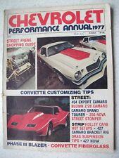 CHEVROLET PERFORMANCE ANNUAL MAGAZINE 1977