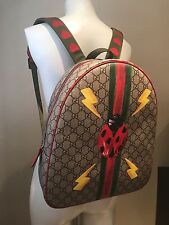 GUCCI Sold Out Girl's GG Ladybug Web Printed Backpack