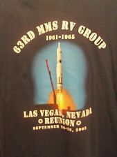 63rd mms rv group 1961 1965 Strategic Air Command black graphic XL t shirt
