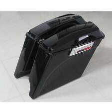 Gloss Extended Hard Saddle bags Saddlebags for Harley Touring Road Glide 93-13