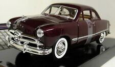 Motormax 1/24 Scale 1949 Ford Coupe Burgundy Diecast model car
