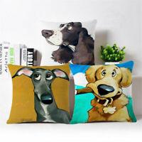 """18""""*18"""" Dalmatians Cotton Linen Throw Pillow Case Cushion Cover Home Sofa Decor"""