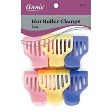 Annie Hot Roller Clamps Hair Accessories Clips Claw Pins Holder Colors #3164