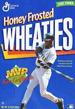 Ken Griffey, Jr--1998 Honey Frosted Wheaties MVP Cereal Box--Front Panel Only