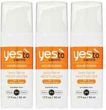 Yes To Carrots Daily Facial Moisturizer SPF 15, 1.7 Fluid Ounce (3 Pack)