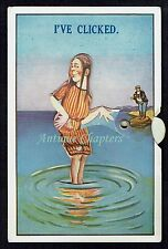 c1920 Bathing Beauty Having Photograph Taken Mechanical Novelty Postcard B294