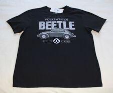 Volkswagen Classic Beetle Mens Black Printed Short Sleeve T Shirt Size L New