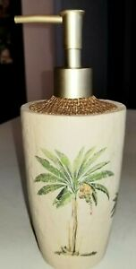 Croscill WEST PALM Soap Dispenser Pump UNUSED with Pretty Palm Trees TROPICAL