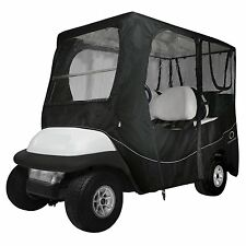 """Golf Cart Enclosure 2 Pass. Person Fairway Dlx. Fits Roof Dim. up to 68"""" L BLACK"""