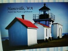 new POST CARD AERIAL VIEW POINT NO POINT LIGHTHOUSE HANSVILLE  WASHINGTON