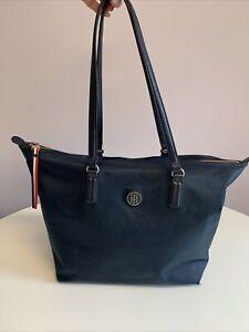 Tommy Hilfiger Navy Blue Tote Handbag Bag