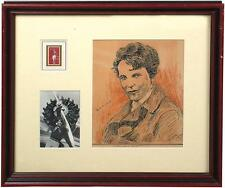 ORIGINAL WORK OF ART AUTOGRAPHED/SIGNED BY AMELIA EARHART WITH, JSA/LOA
