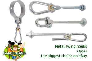 Safe metal swing seat hooks 10 types for climbing frames playhouse treehouse