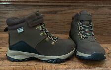 New MERRELL sz 10 W Little Boy's Brown Leather Alpine Waterproof Boot New No Box