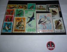 14 Vogel Briefmarken - verschiedene Länder - Bsp.: Ungarn Rumänien Australien