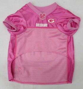 NFL Green Bay Packers Pink Dog Jersey Size Large