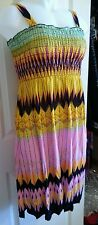 PARTY DRESS Sleeveless pink CRUISE Womens Size L STRAPS Dress
