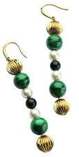 D & G Dolce & Gabbana Geisha Green Color Steel Drop Earrings DJ0859