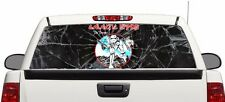 Storm Trooper Iron Maiden rear window graphics Decal view 66''x22'' Truck SUV