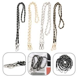 "49"" Metal&PU Leather Bag Chain Strap Buckle Belt for Purse Handbag Bag Crossbody"