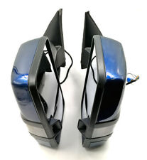 For 03-06 Silverado Painted Blue Tow Mirror Power+Heated+Smoked LED Turn Signal
