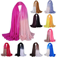 Ladies Cotton Shade Shawl Pashmina Hijab Long Scarf Voile Scarves Stole Gradient