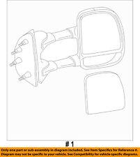FORD OEM 03-14 E-350 Super Duty Door Side Rear View-Mirror Assy Left 7C2Z17683DA